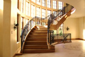 Luxury Interior Wrought Iron Stair Railing by Antietam Iron Works
