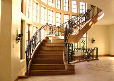 Wrought Iron Stair Railing by Antietam Iron Works