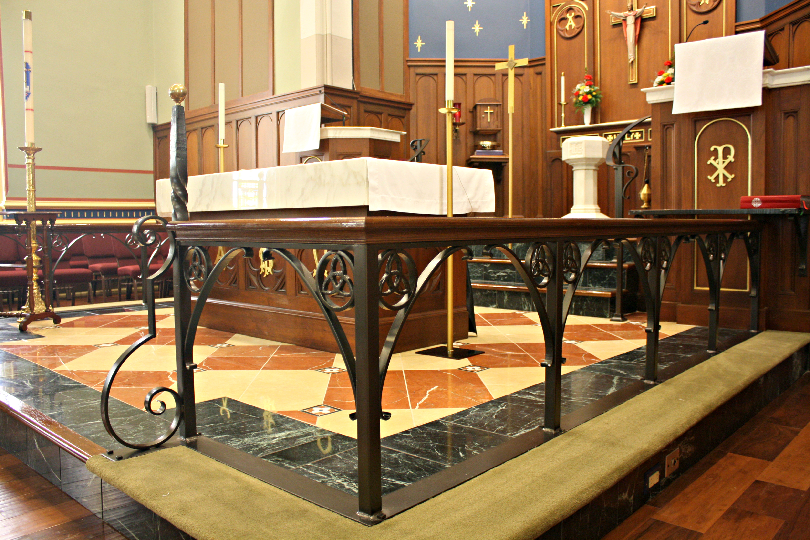 Interior Church Railings