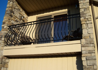 Exterior Balcony Railing Bowed Pickets