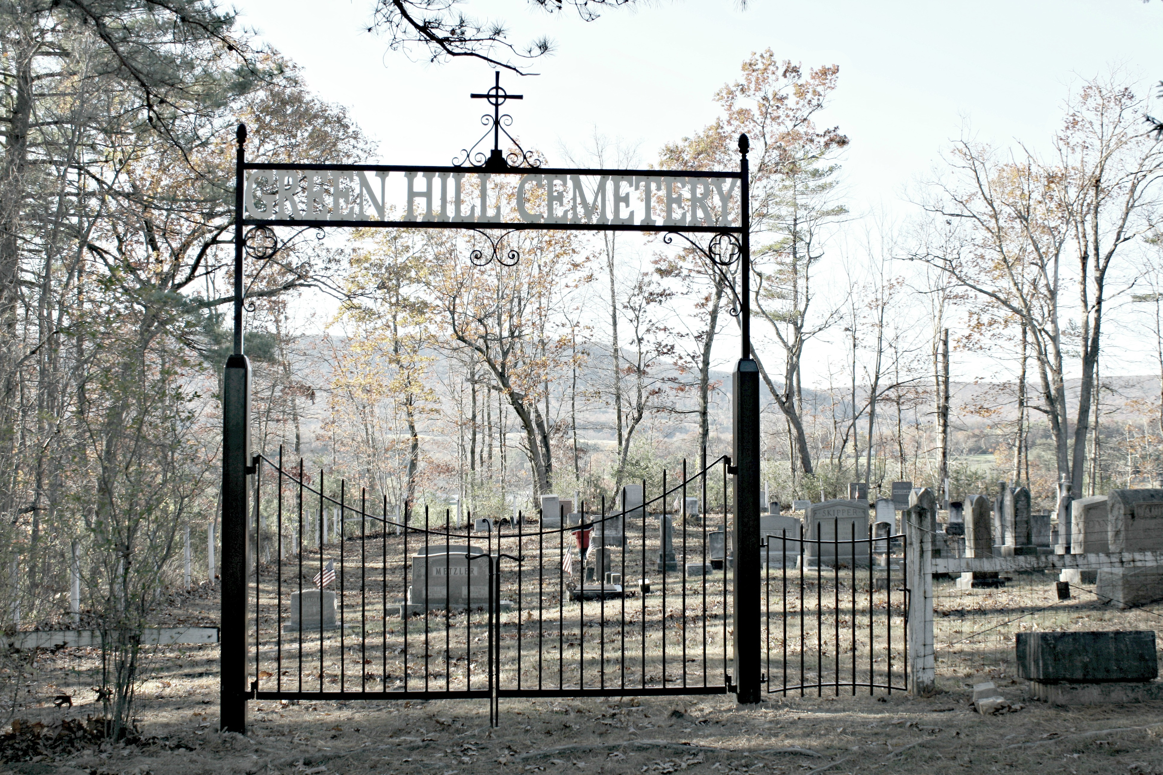 Cemetery Archway and Iron Gate