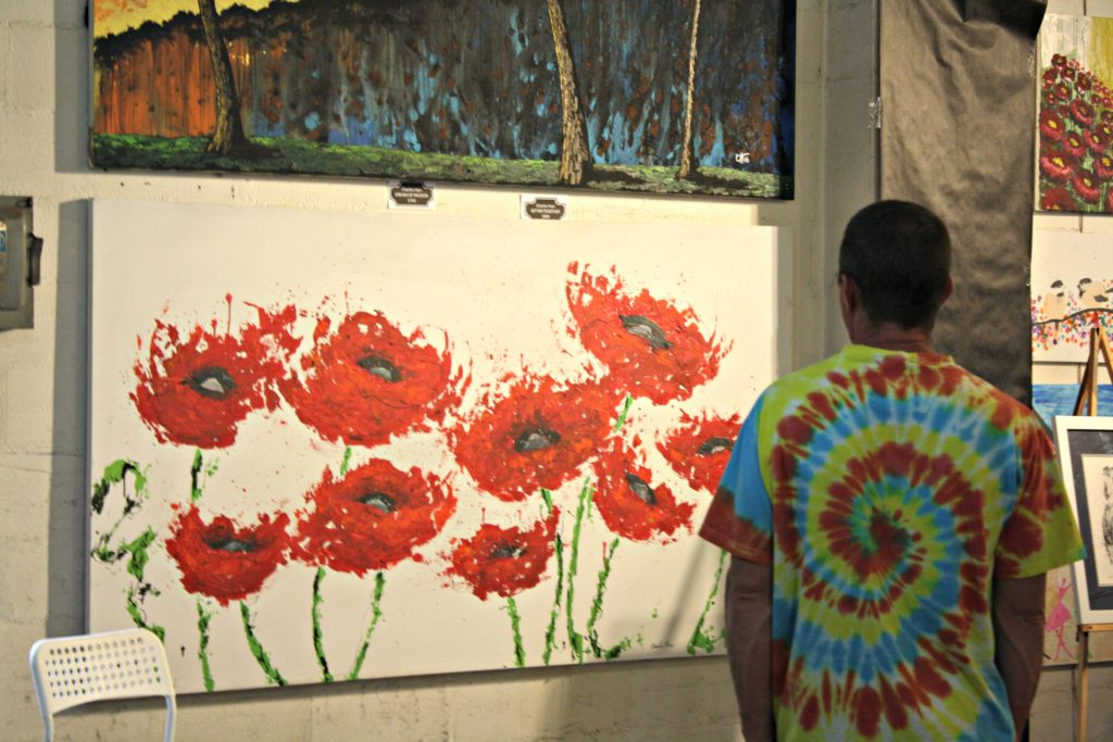 Charlie Harr Poppies Painting