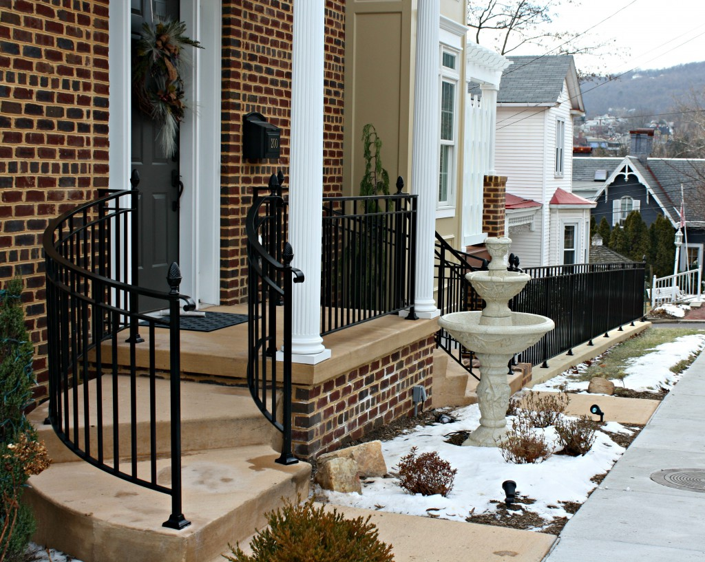 Curved Front Step Railings
