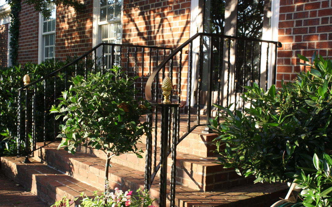 Curved Railings with Gold Leaf Detail-  Waterford, VA