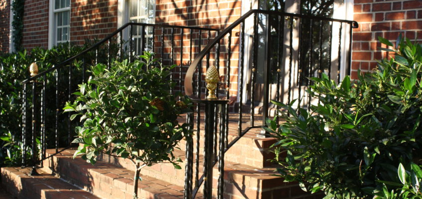 Railing on colonial home in virginia