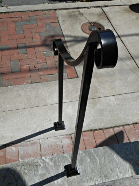 Wrought Iron Step Railing