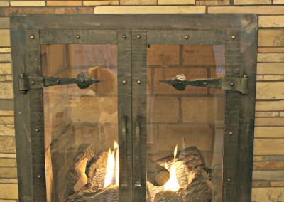 Custom Wrought Iron Fireplace Doors
