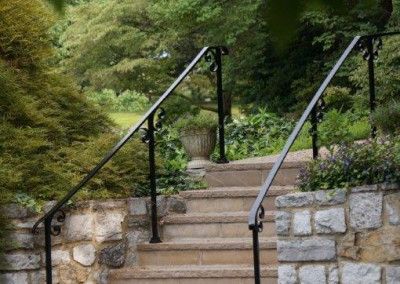Iron Step Railing