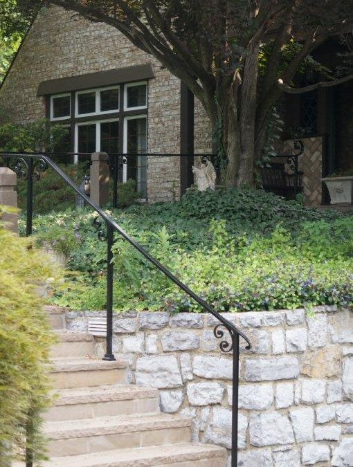 Wrought Iron Railing Design Ideas for a Tudor Home