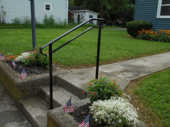 Railing for steps on front walk