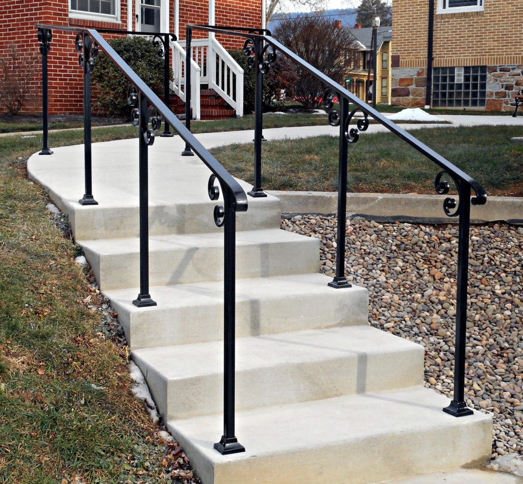 Railings archives antietam iron works - Metal railings for stairs exterior ...