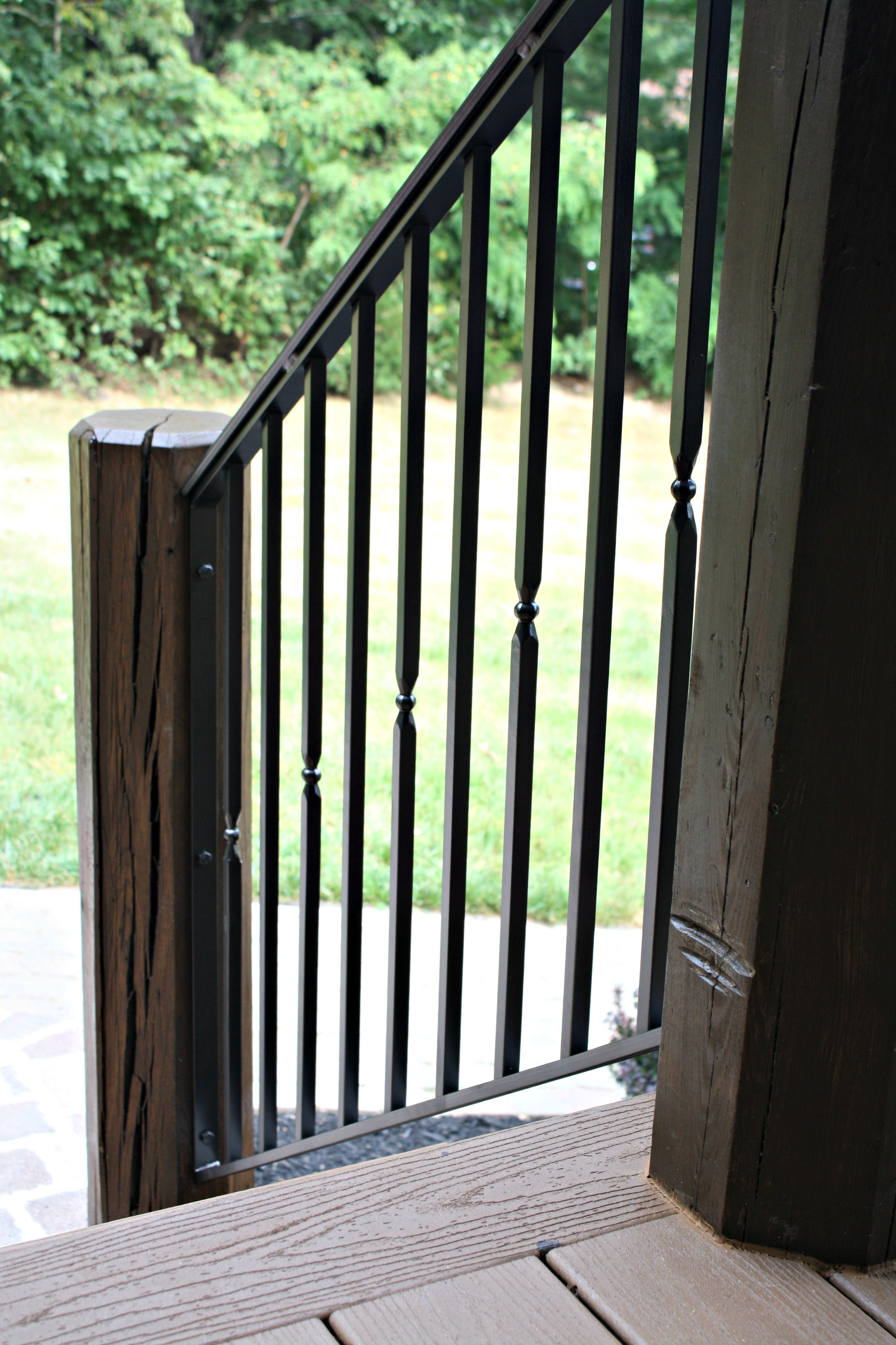 exterior railings antietam iron works. Black Bedroom Furniture Sets. Home Design Ideas
