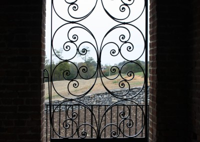 French Scrolling Iron Gate