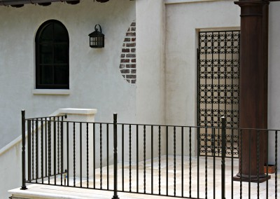 Forged Porch Railing and Gate
