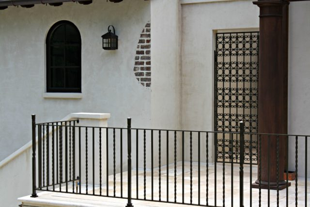 Metal Porch Railing and Gate