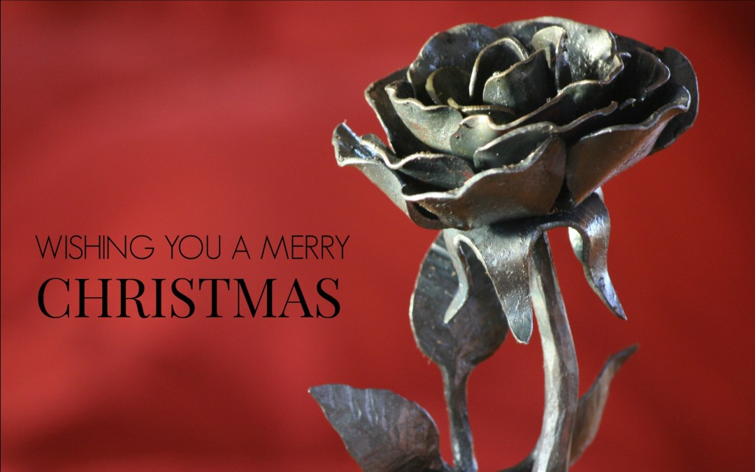 Wrought Iron Rose- A Gift Hand made in the USA
