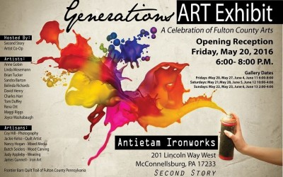 GENERATIONS ART EXHIBIT MAY 20TH