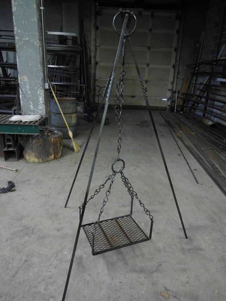 Hand Forged Iron Campfire Tripod