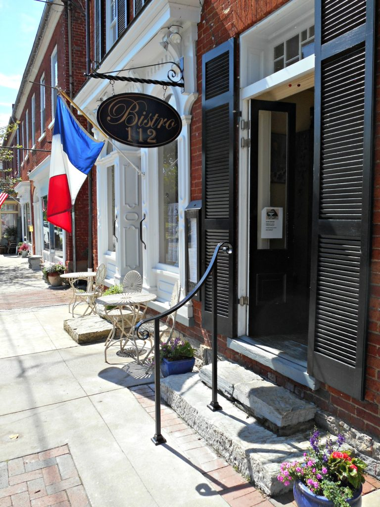 metal railing for business in historic district