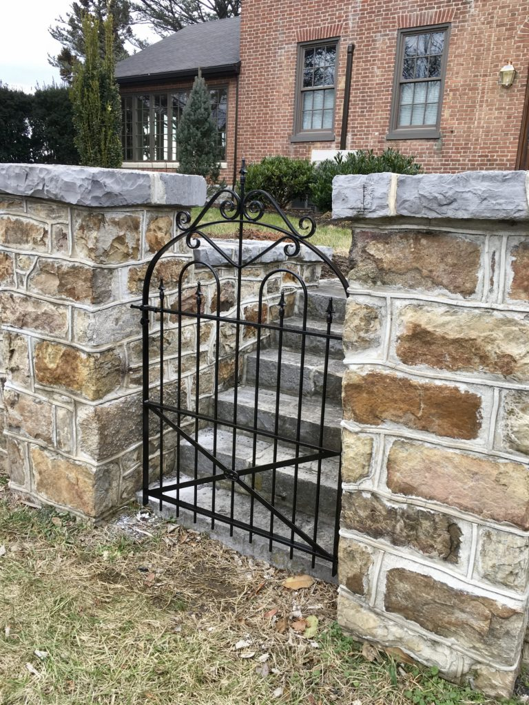 Wrought Iron Entry Gate