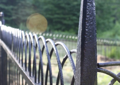 Antique Iron Fence Restored