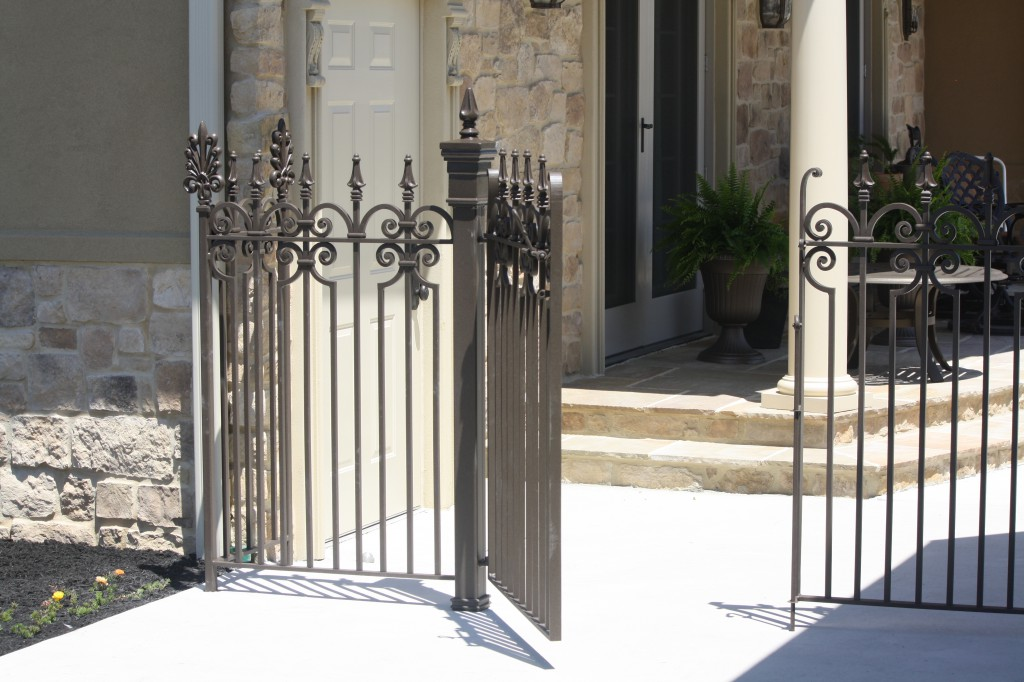 Exterior Pool Iron Pool Gate