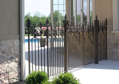 Exterior Iron Pool Fence and Gate