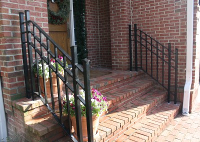 Modern front step railing by Antietam Iron Works