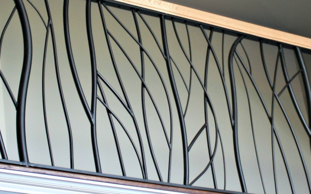 Custom Interior Railings for a Loft-   Modern Branch Design
