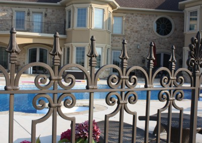 Wrought Iron Pool Fence by Antietam Iron Works