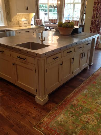 Kitchen Island with Custom Drawer Pulls