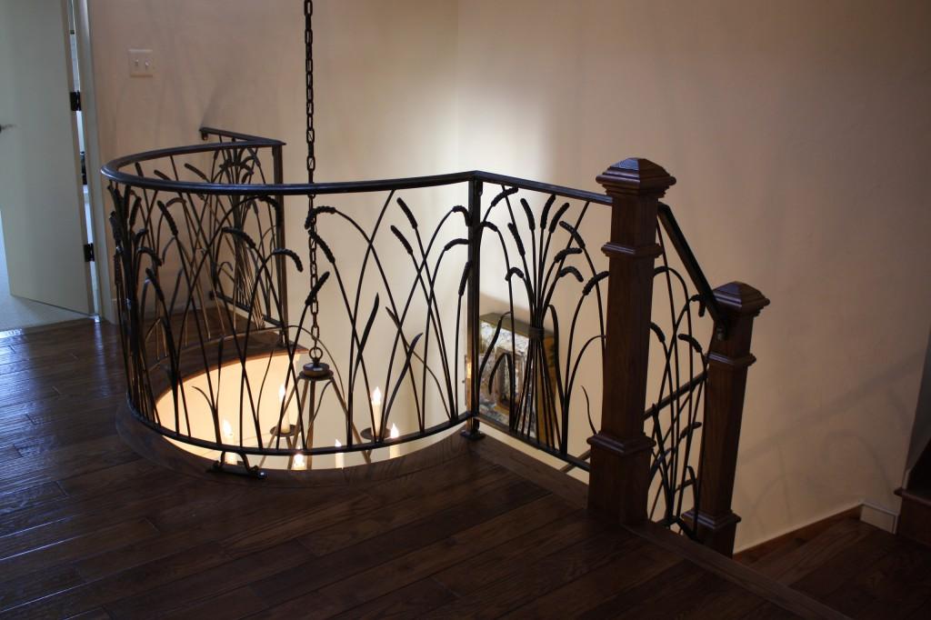 Interior railings antietam iron works for Indoor balcony railing