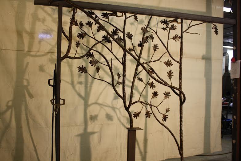 Oak forest railing