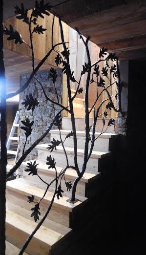 Oak tree railing