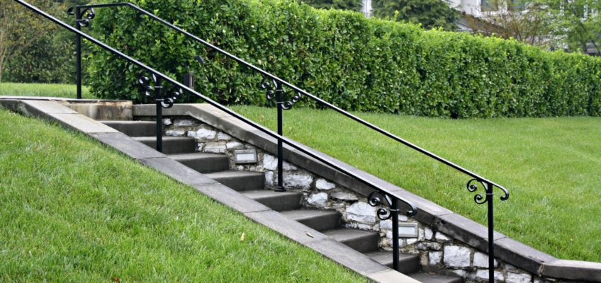 metal railings for the historical home