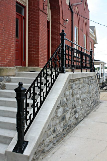 Old Rusty railing restored