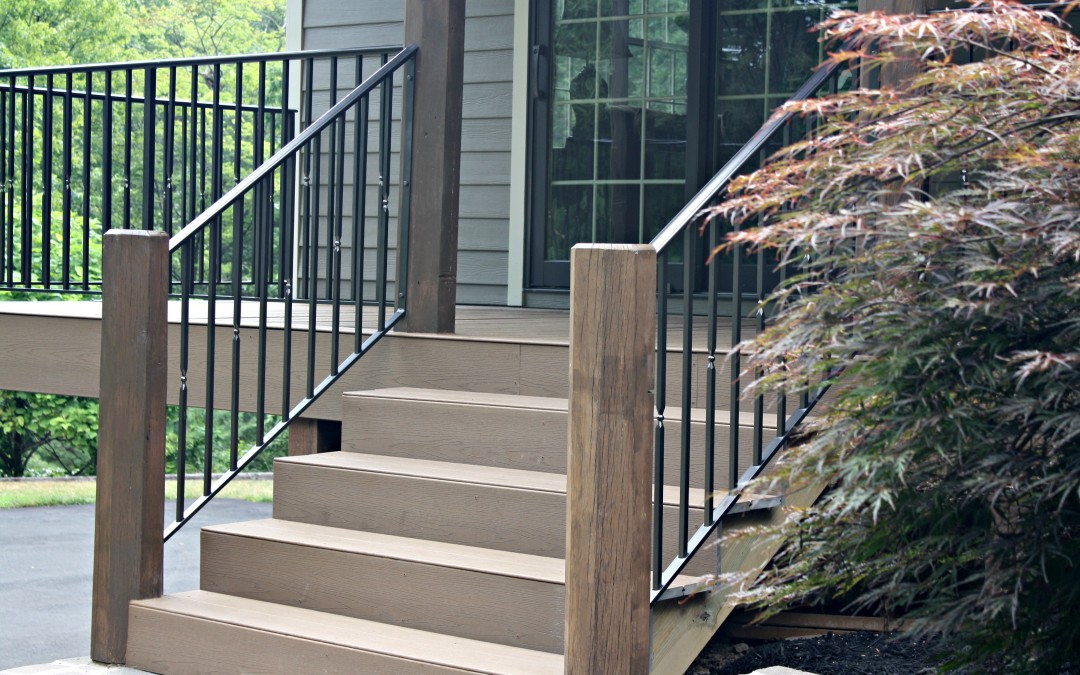 Metal Railings for a Rustic Mountain Home