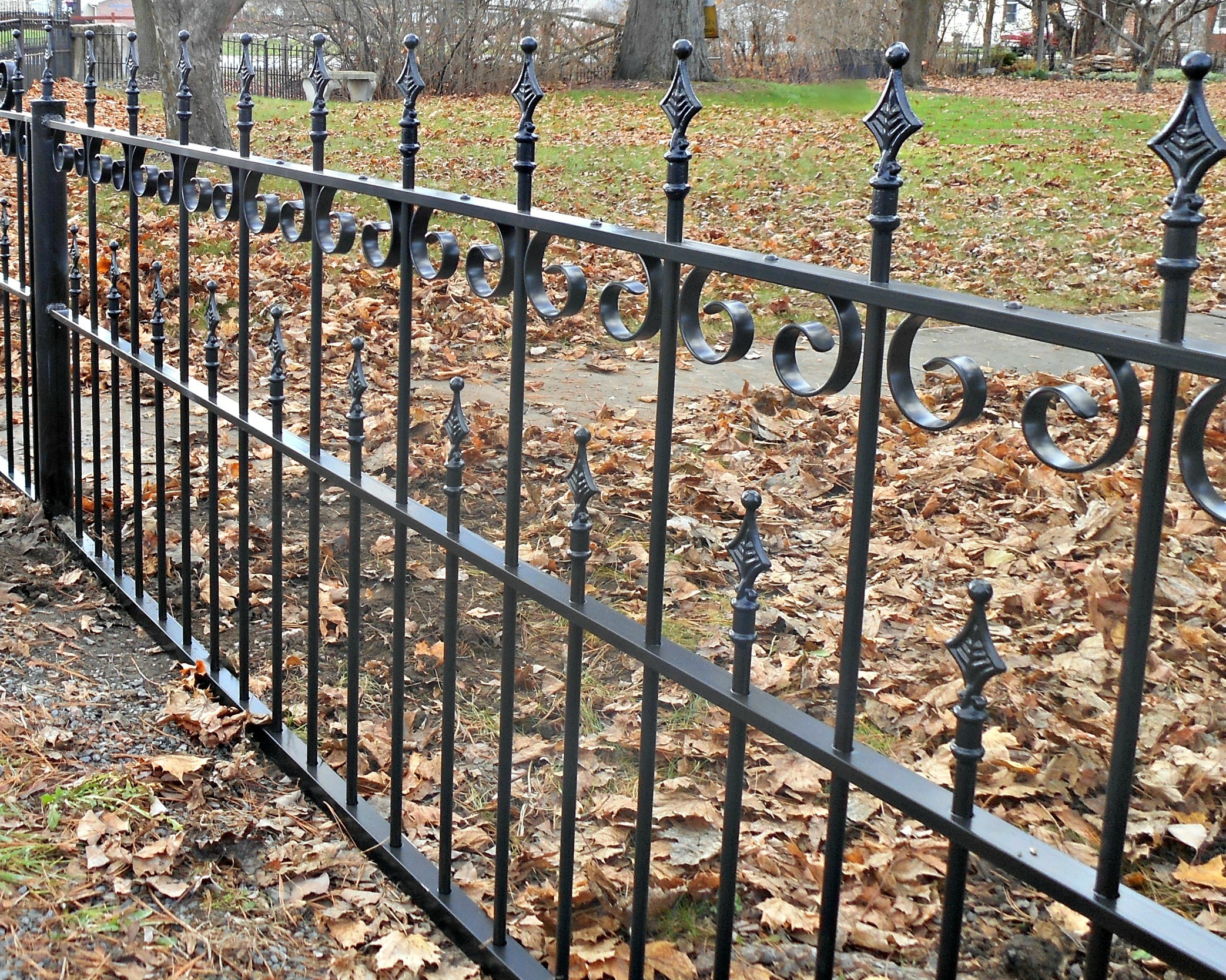 Wrought Iron Fence Restoration In Shippensburg Pennsylvania