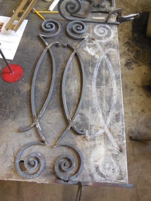 Metal Balcony Scrolls