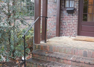 Simple front step hand rail- classic, by Antietam Iron Works