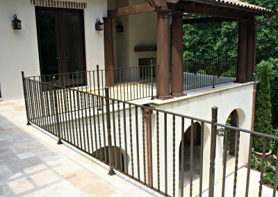 Spanish Colonial Patio Railing