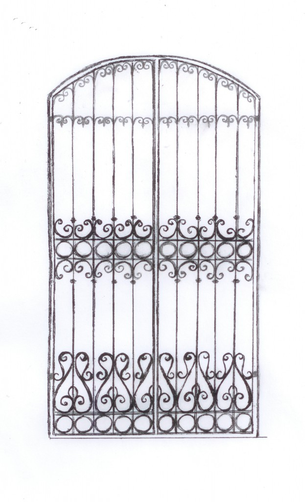 Sketch of Spanish Colonial Gate
