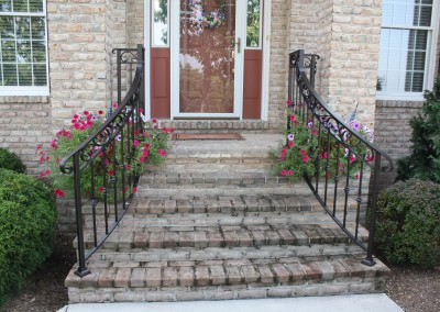 Wrought Iron Front Step Railings