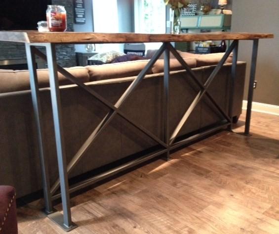 Bar With Metal Legs Antietam Iron Works