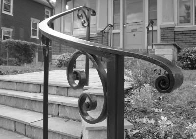 Curved Wrought Iron Railing Scrolls
