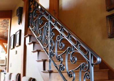 Hand forged Iron Interior Step Railing
