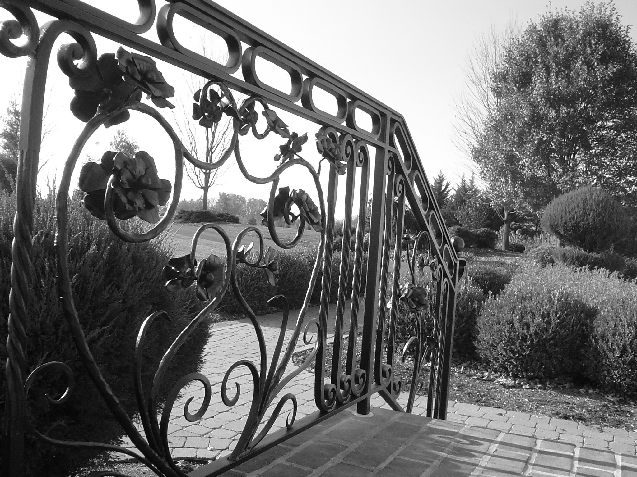 Wheatstairrail Useforbigslide Wrought Iron French Step Railing