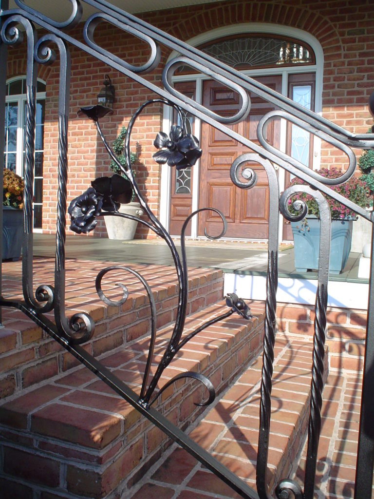 Hand forged Flower Railing