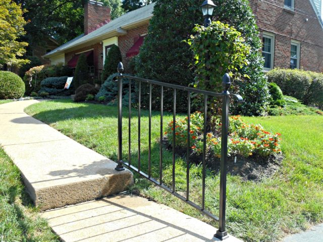Railing For Small Steps Or Walkways Safety Without