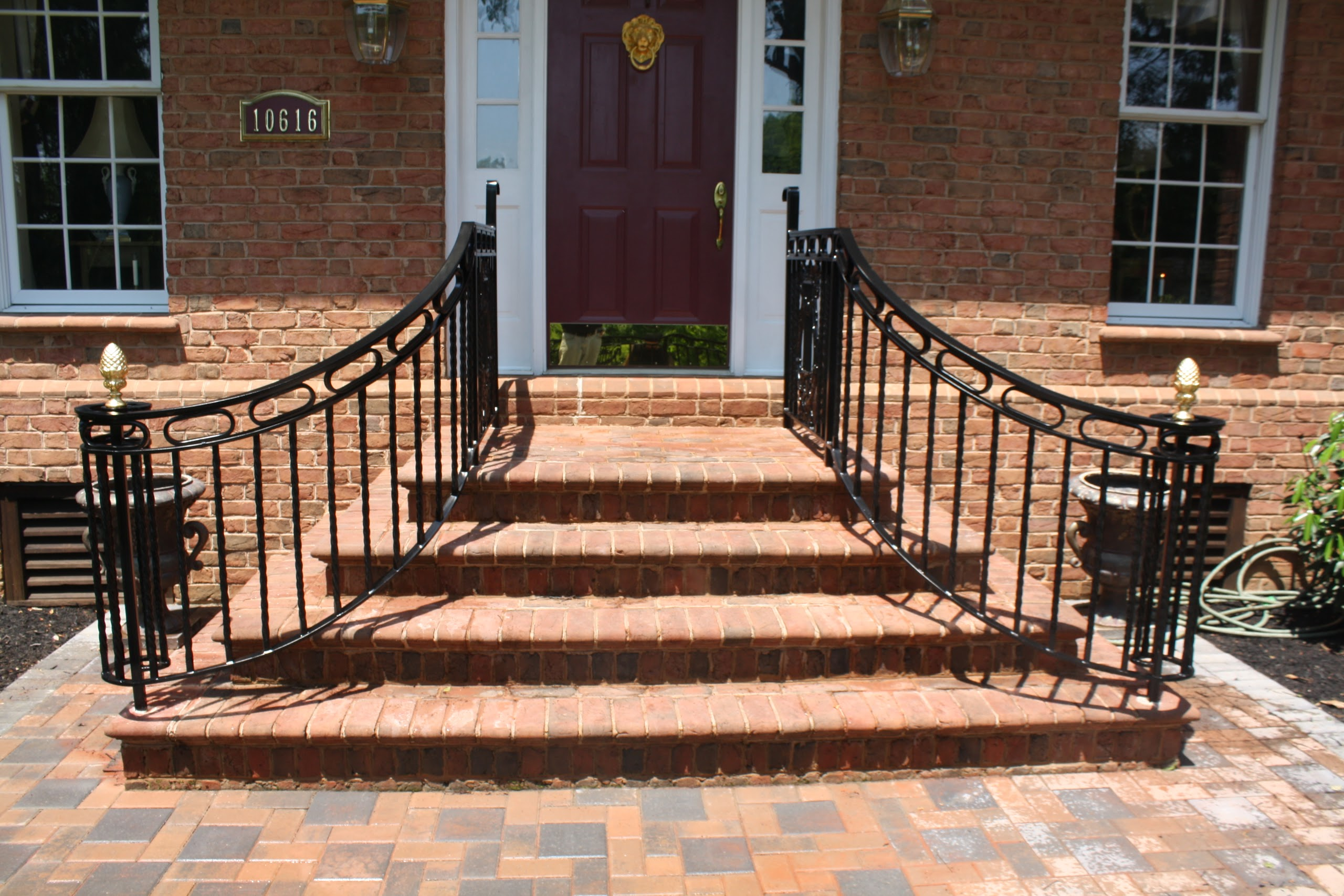 Wrought Iron Entry Step Railing